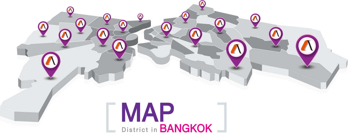 Map District in Bangkok